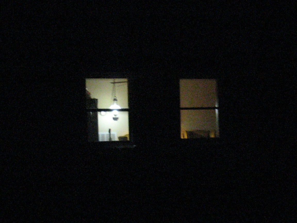 Window at night from inside - 03 Before Jpg