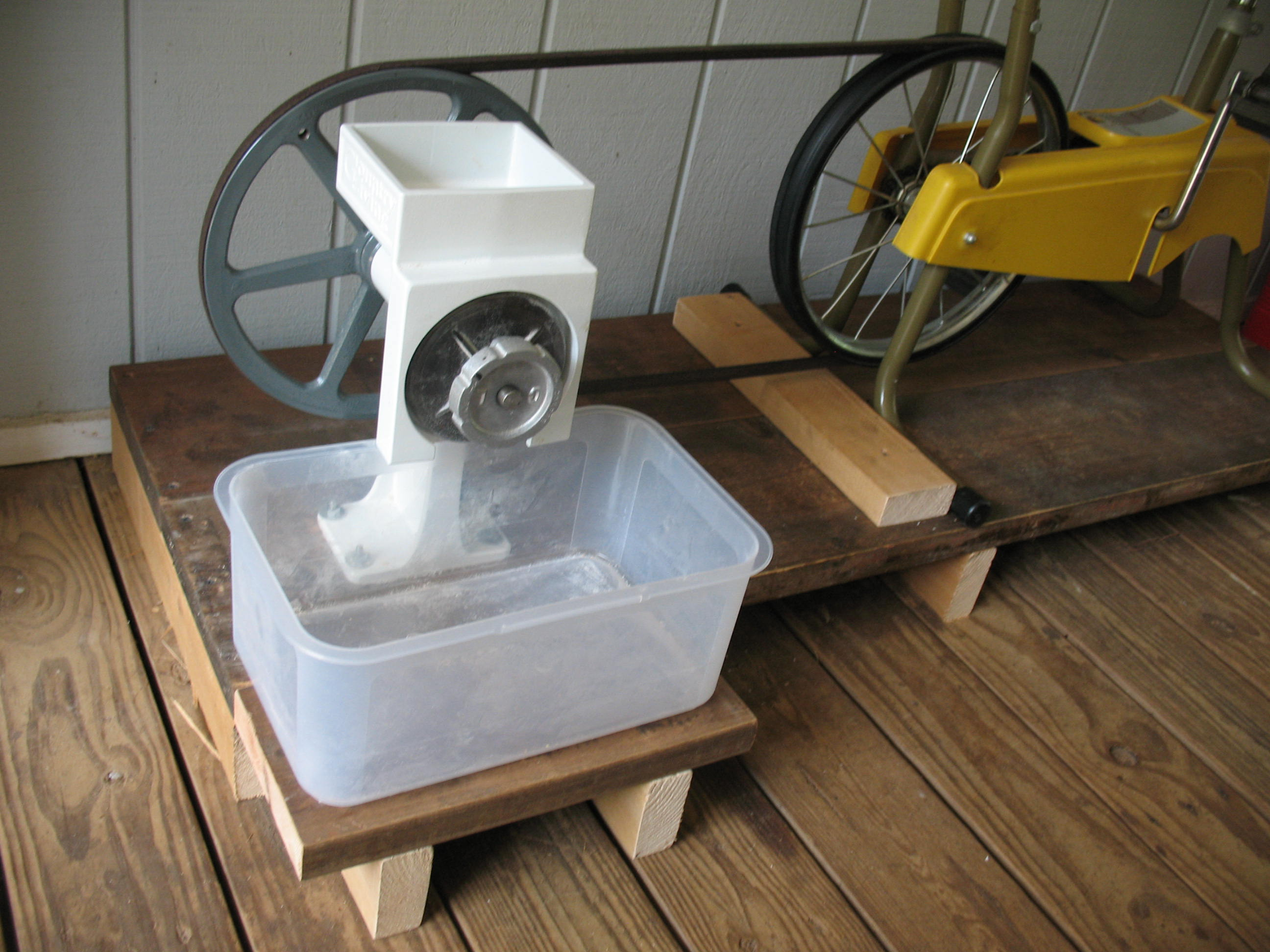 Bicycle Power for the Country Living Grain Mill Sensible Survival