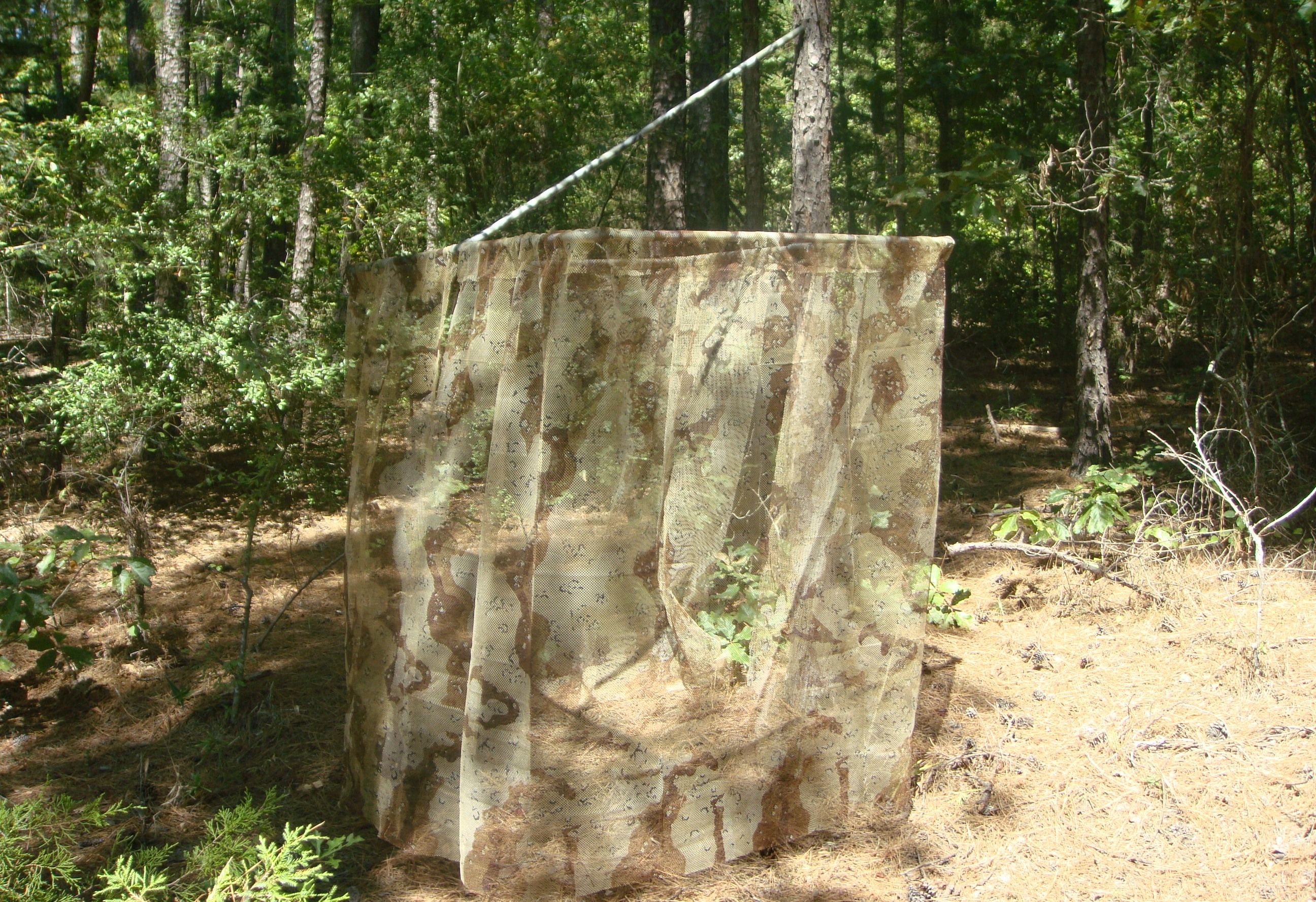 Build a portable blind for your deer stand sensible survival for Diy deer blind